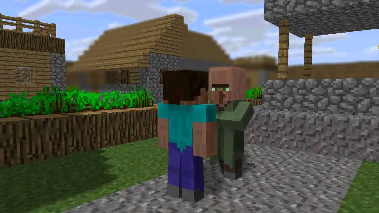 Stupid villager trading minecraft animation youtube stupid villager trading minecraft animation sciox Images