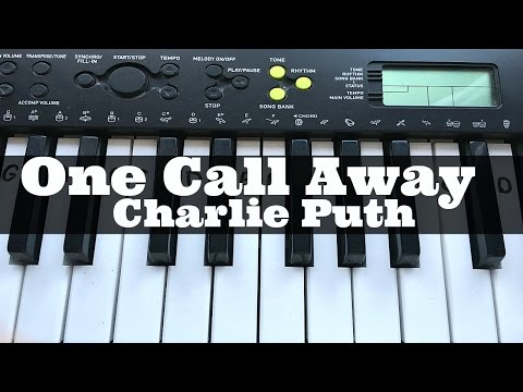 One Call Away - Charlie Puth   Easy Keyboard Tutorial With Notes (Right Hand)