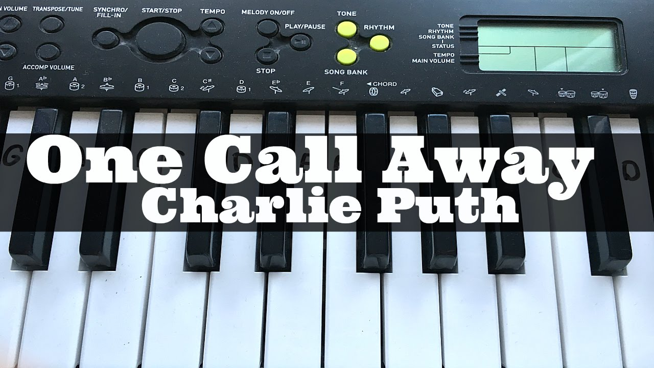 One Call Away - Charlie Puth | Easy Keyboard Tutorial With
