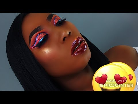 Double Glitter Cut Crease Makeup Tutorial