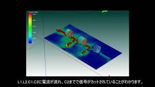 トランジスタ技術2018年4月号 動画サンプル「LPFの3次元電流シミュレーション」