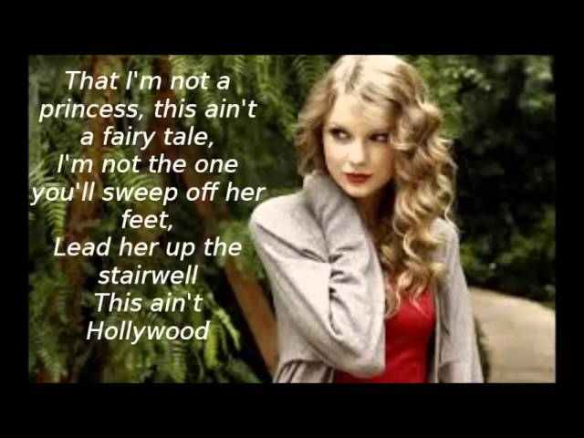 White Horse By Taylor Swift Lyrics Youtube