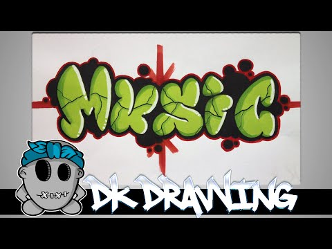 Graffiti Tutorial for beginners - How to color bubble letters music #7