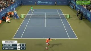 Jerzy Janowicz suffers a game penalty vs Shapovalov, three code violations in a blink