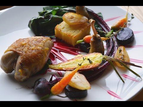 Patridge, Pears And Root Vegetables