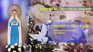 Rosaire du  mardi 8 juin, replay