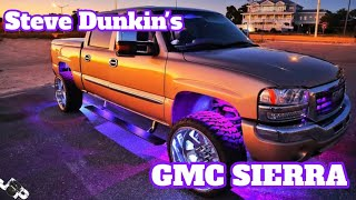 Steven Dunkin's GMC Sierra | 6 psi platform 5 15's on 6 sundown scv 7500s