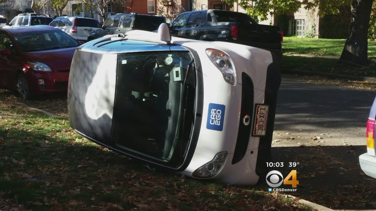 Car2go Smart Cars Flipped In Denver