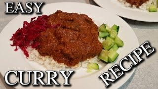 Easy to Make Curry Recipe with Sauerkraut Cucumbers Backyard Ingredients