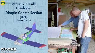 Van's RV-7 Build Fuselage Dimple Center Section