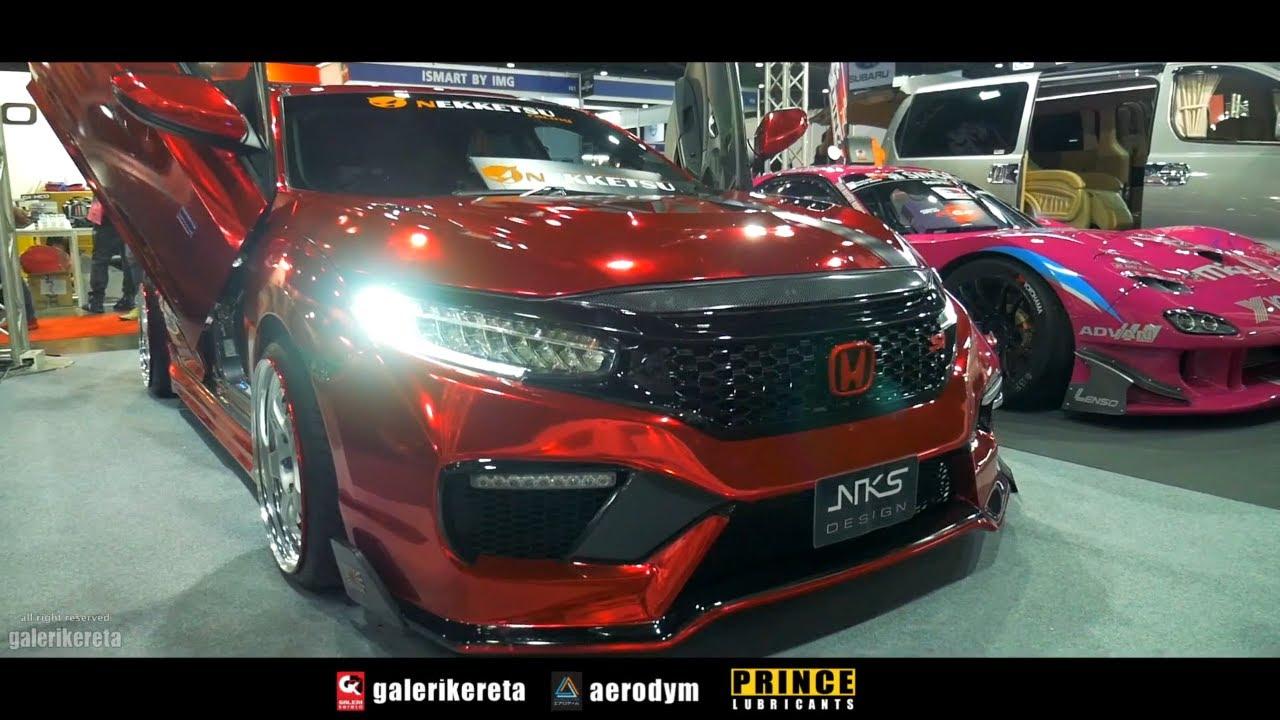 Red Chrome Honda Civic 2017 Sedan With Lambo Door Youtube