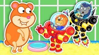 Lion Family 🤖 Robot – Superhero 5: Hamster Place | Cartoon for Kids