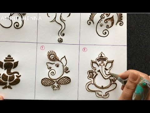Henna Mehndi For Beginners How To Draw Lord Ganesha Best Online Mehendi Learning Tutorial