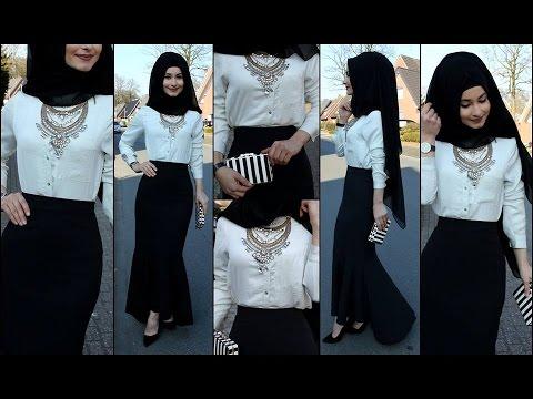 Hijab moderne avec robe