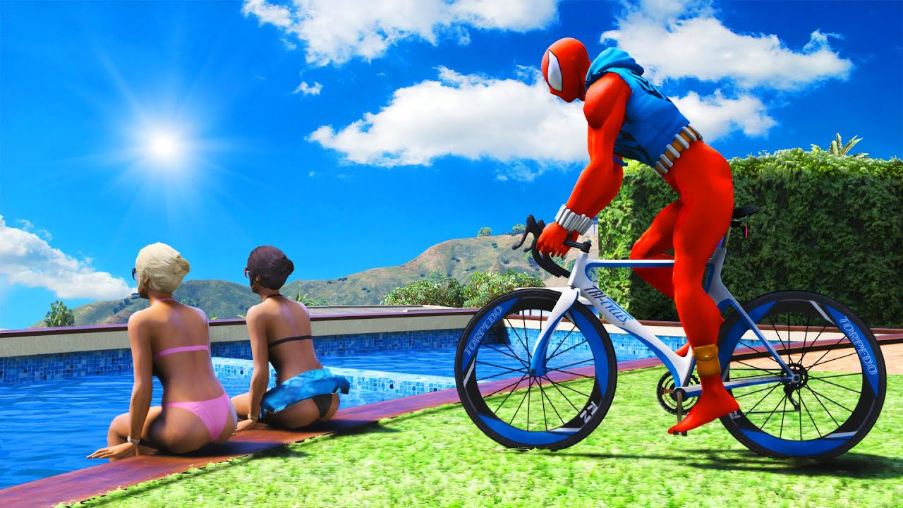GTA 5 Water Ragdolls RED SPIDERMAN Jumps/Fails (Euphoria Physics, Ragdolls Fails, Funny Moments)