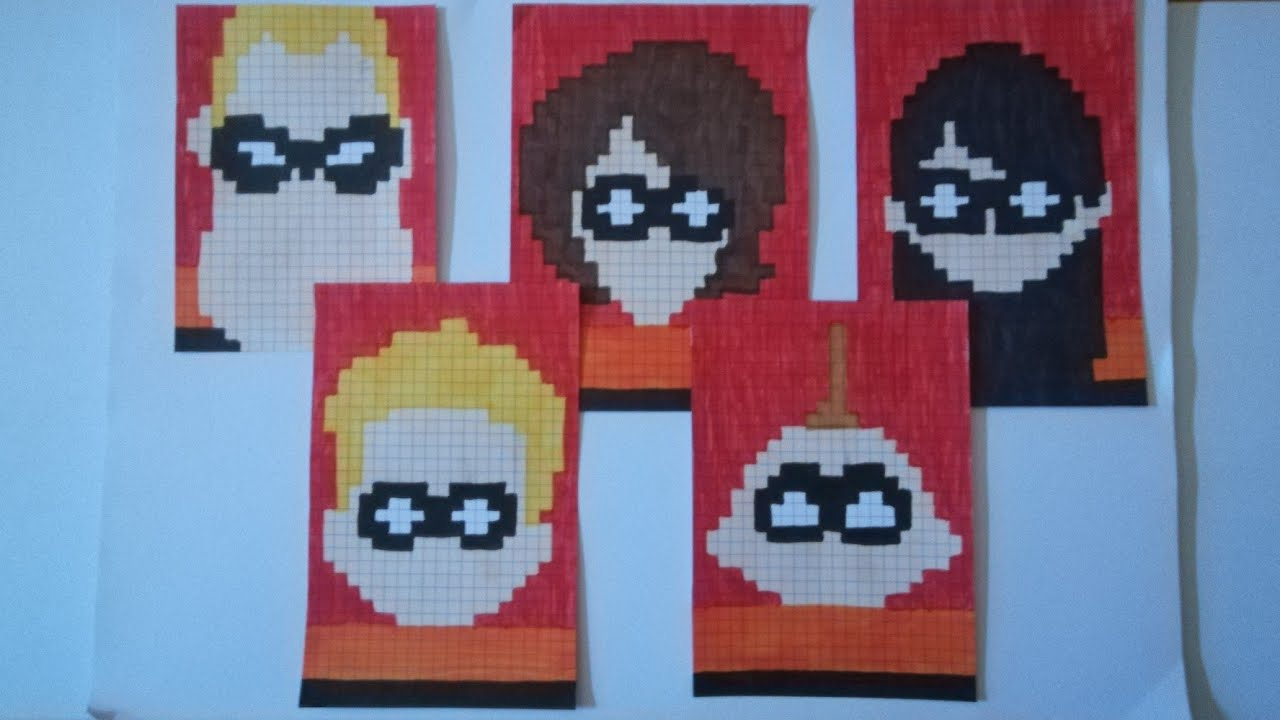 Pixel Art Les Indestructiblesthe Incredibles