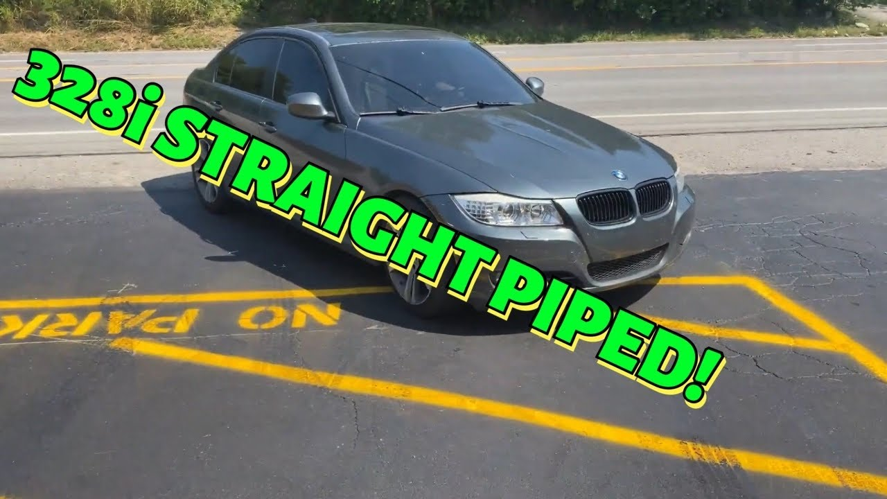 2009 BMW 328i DUAL EXHAUST w/  STRAIGHT PIPES!