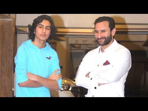 Saif Ali Khan With Son Ibrahim Who Looks Exactly Like Him ...