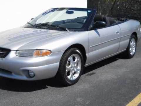 2000 chrysler sebring 2dr convertible jxi black roof youtube. Black Bedroom Furniture Sets. Home Design Ideas