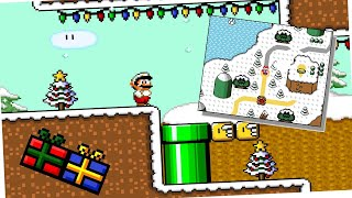 Super Mario saves Christmas • Super Mario World ROM Hack