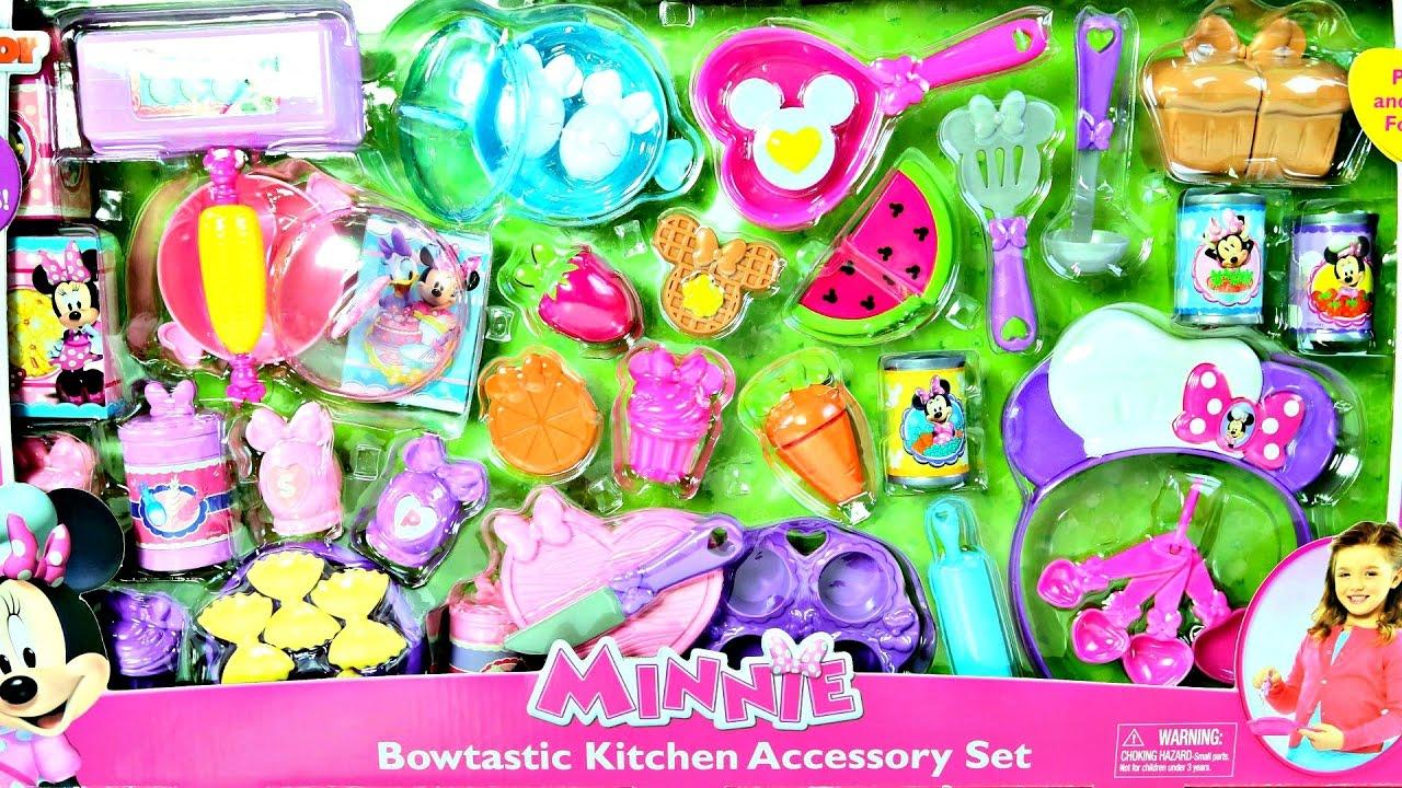 50 Accesorios Para Cocina De Juguete Minie Mouse Kitchen Play Doh