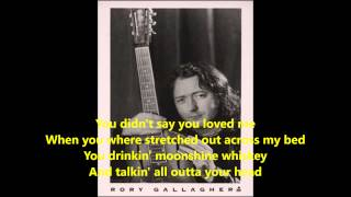 Rory Gallagher-Pistol Slapper Blues live (Lyrics On Screen)