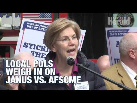 Senators Elizabeth Warren, Ed Markey, and Mayor Marty Walsh back unions in Janus vs. AFSCME