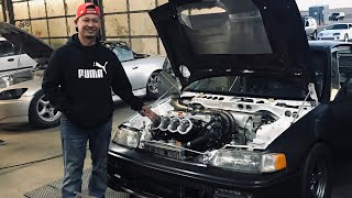 Phong's All Motor Crx project hits the Dyno! (Headphone users turn it down he isn't messing around)