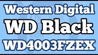 Western Digital WD Black WD4003FZEX 4 TB Sata Internal Hard Drive
