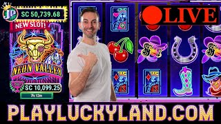 🔴 LIVE SLOTS 🎰 NEW Slot Machines $1,000SC on LuckyLand Social Casino Slots 🔥BCSlots #ad