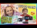 GIRLS SHOP AT THE MALL WHILE BOYS ARE GAMING | We Are The Davises
