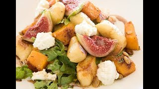 Goat Cheese Gnocchi And Warm Spinach Salad | EASY TO LEARN | QUICK RECIPES