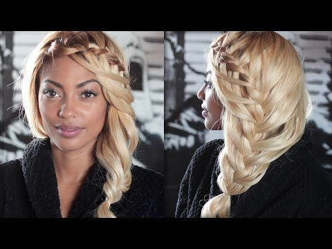 """lace-waterfall-braid-★-mermaid-hairstyle-tutorial-of-tenny-in-""""le-temps""""-for-medium/long-hair"""