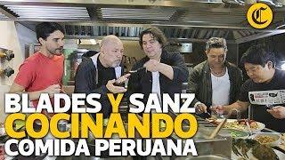 Rubén Blades y Alejandro Sanz cocinando comida peruana