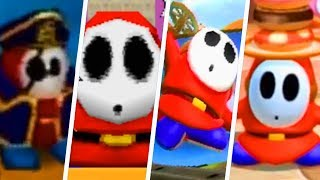 Evolution of Shy Guy in Super Mario Party Games (1998 - 2018)