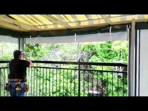 Storing Roll up panels or outdoor curtains tutorial