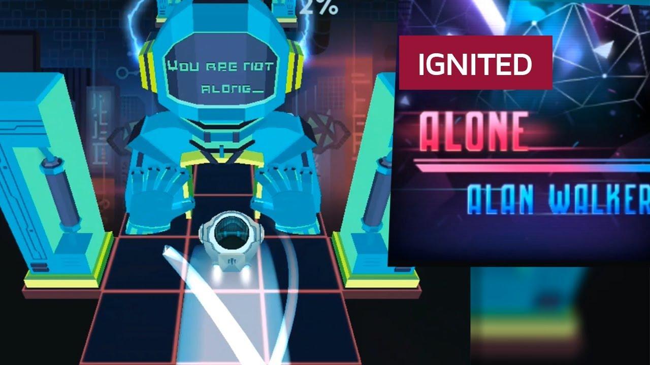 Rolling Sky Alone Ignited Ft Remix Alan Walker Youtube