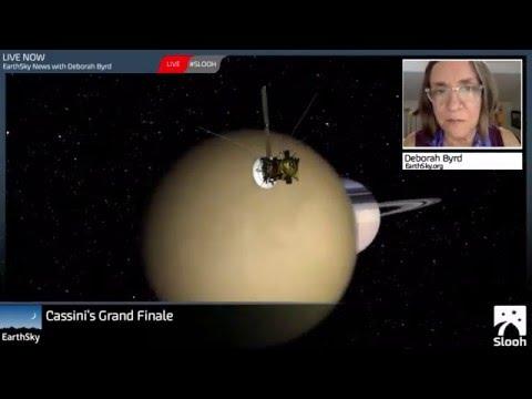 Cassini spacecraft's plunge through Saturn's rings