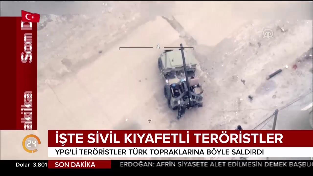 İşte ABD destekli sivil kıyafetli PKK/PYD'li teröristler Türkiye'ye böyle saldırıyor