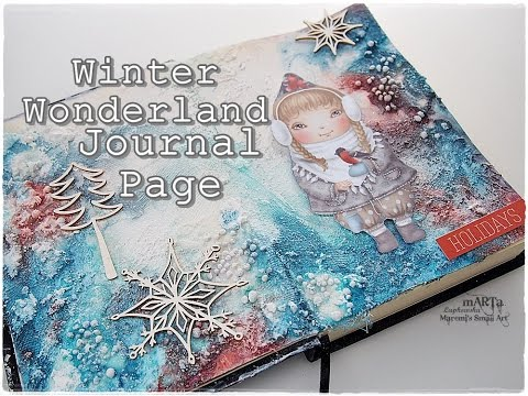 Whimsical Winter Wonderland Mixed Media Journal Page Tutorial