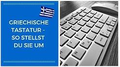 Griechische Tastatur - So stellst du sie um!