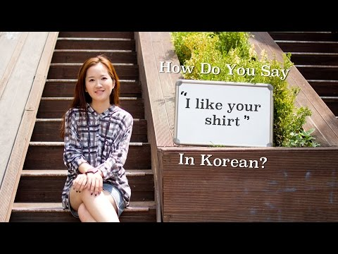 """how-do-you-say-""""i-like-your-shirt""""-in-korean?"""