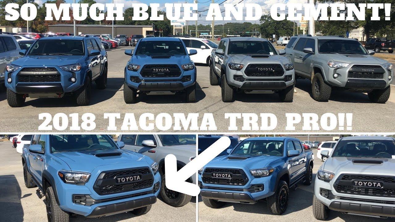 Tacoma Cavalry Blue >> 2018 TOYOTA TACOMA TRD PRO CAVALRY BLUE WALK AROUND!! - YouTube