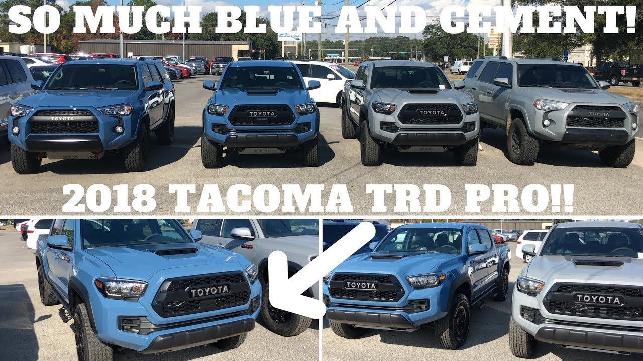 2018 toyota tacoma trd pro cavalry blue walk around. Black Bedroom Furniture Sets. Home Design Ideas