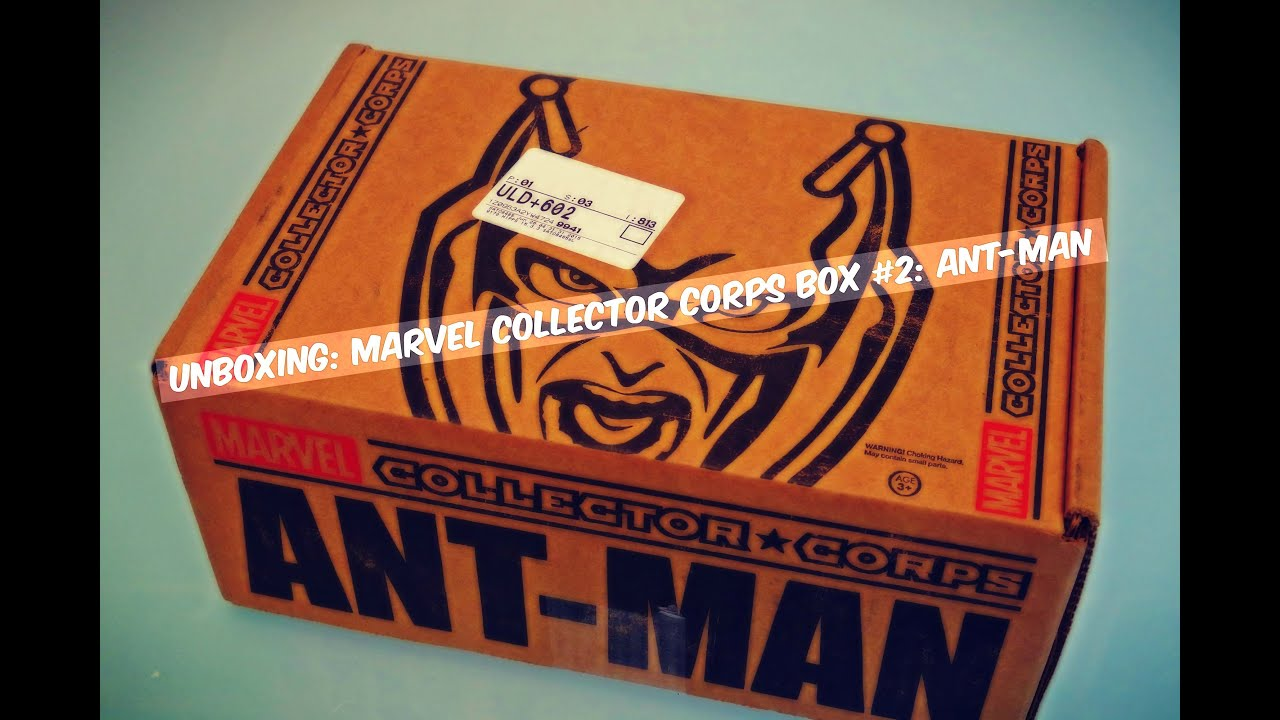 unboxing marvel collector corps