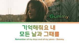 Gambar cover Gummy - Remember Me / 기억해줘요 내 모든 날과 그때를 (Hotel Del Luna OST 7) Lyrics Color Coded (Han/Rom/Eng)