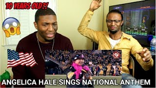 Angelica Hale: 10-Year-Old Sings National Anthem (REACTION)