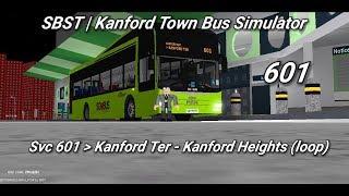 Singapore Bus Services Transit (Roblox)| service 601 | Kanford Ter - Kanford Heights (loop)|