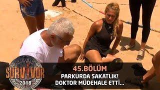 Sema parkurda kötü düştü! Doktor müdahale etti... | 45.Bölüm | Survivor 2018