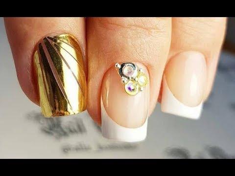 Дизайн ногтей фото френч гель лаком